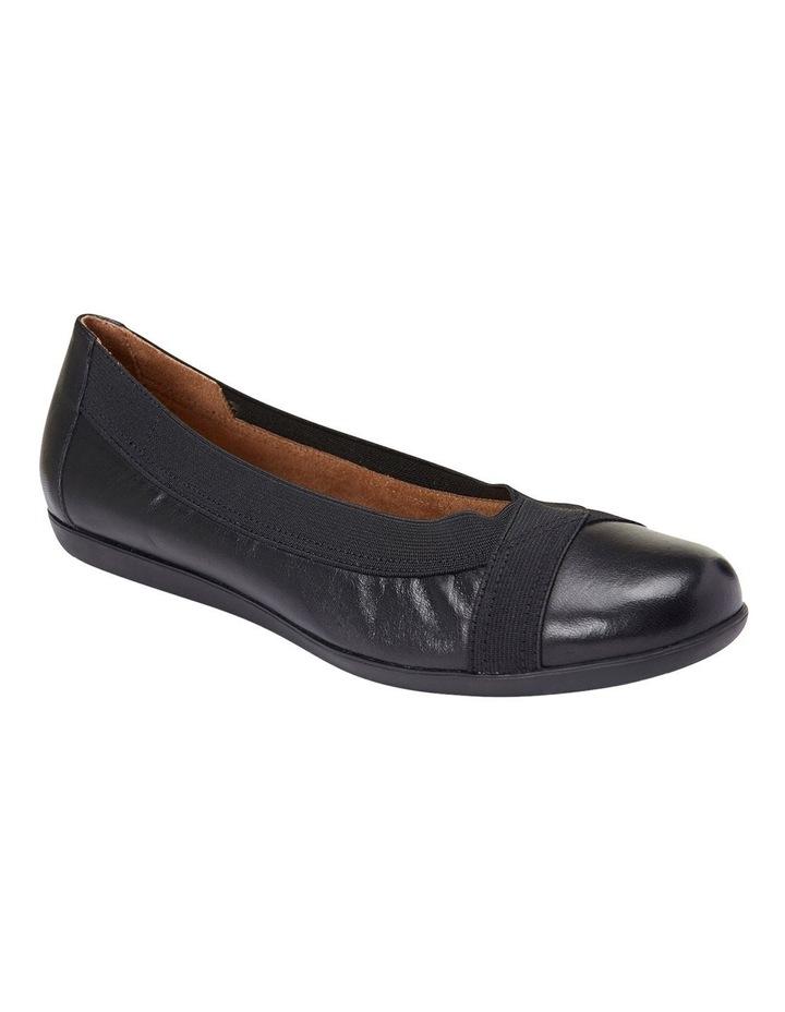 Amanda Black Glove/Elastic Flat Shoes image 2