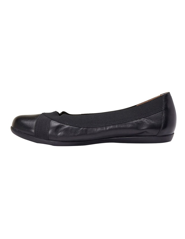 Amanda Black Glove/Elastic Flat Shoes image 3