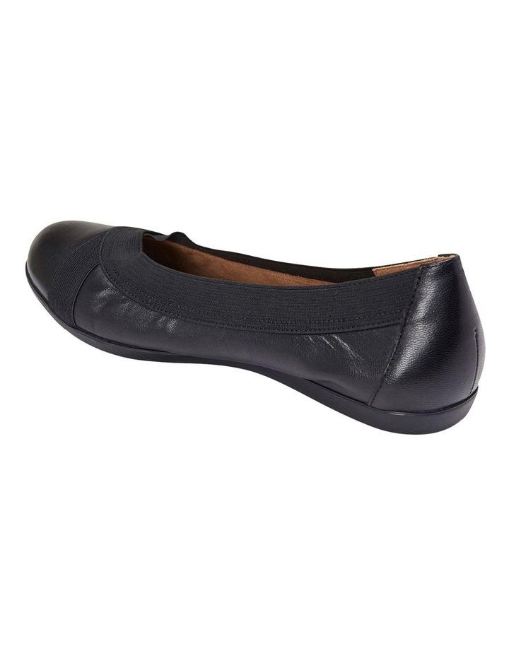 Amanda Black Glove/Elastic Flat Shoes image 5