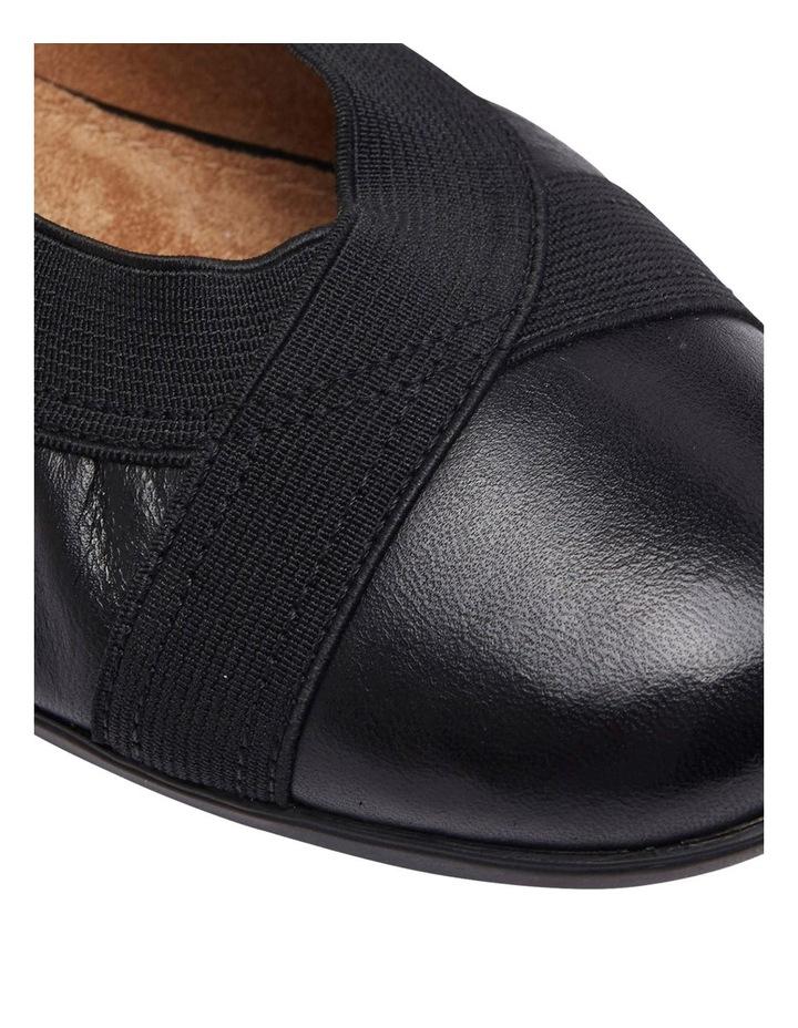 Amanda Black Glove/Elastic Flat Shoes image 6