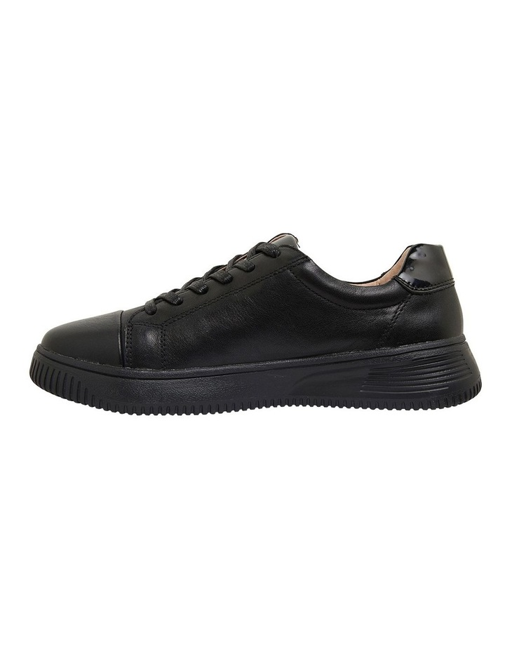 Novella Black/Black Patent Sneakers image 3