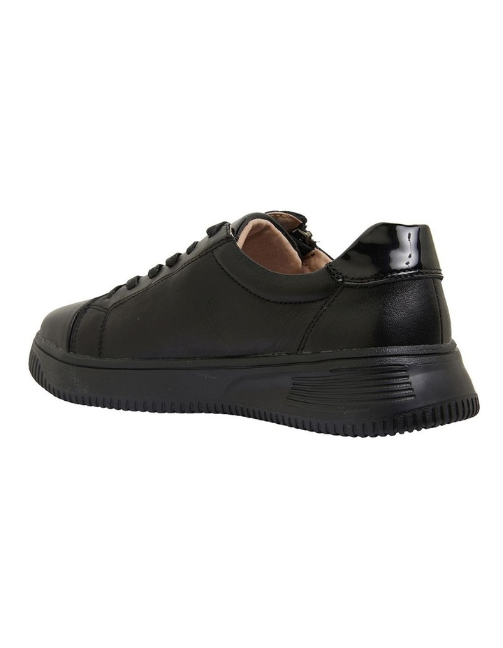Novella Black/Black Patent Sneakers image 7