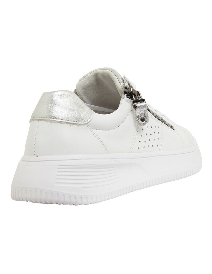 Novella White/Silver Glove Sneakers image 4