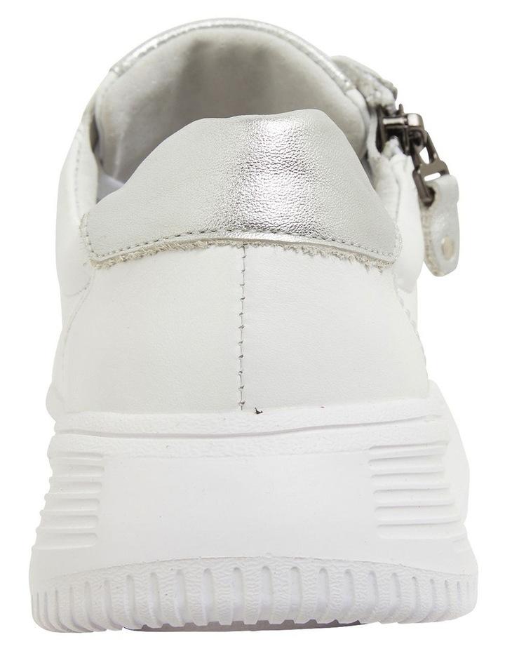 Novella White/Silver Glove Sneakers image 5