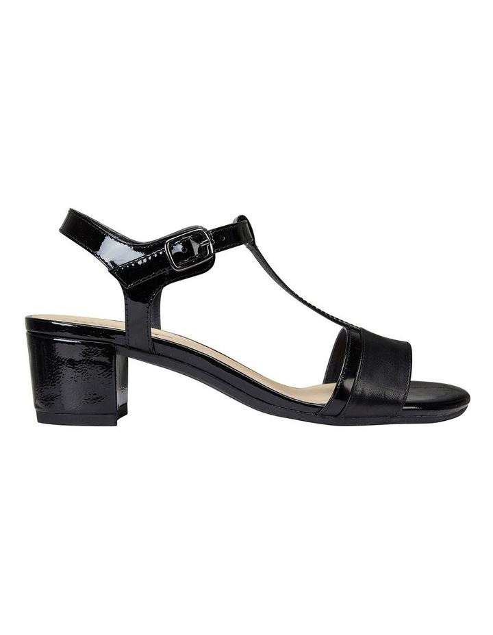 Ella Black Glove/Patent Sandal image 1