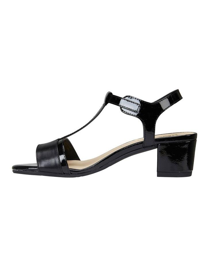 Ella Black Glove/Patent Sandal image 3