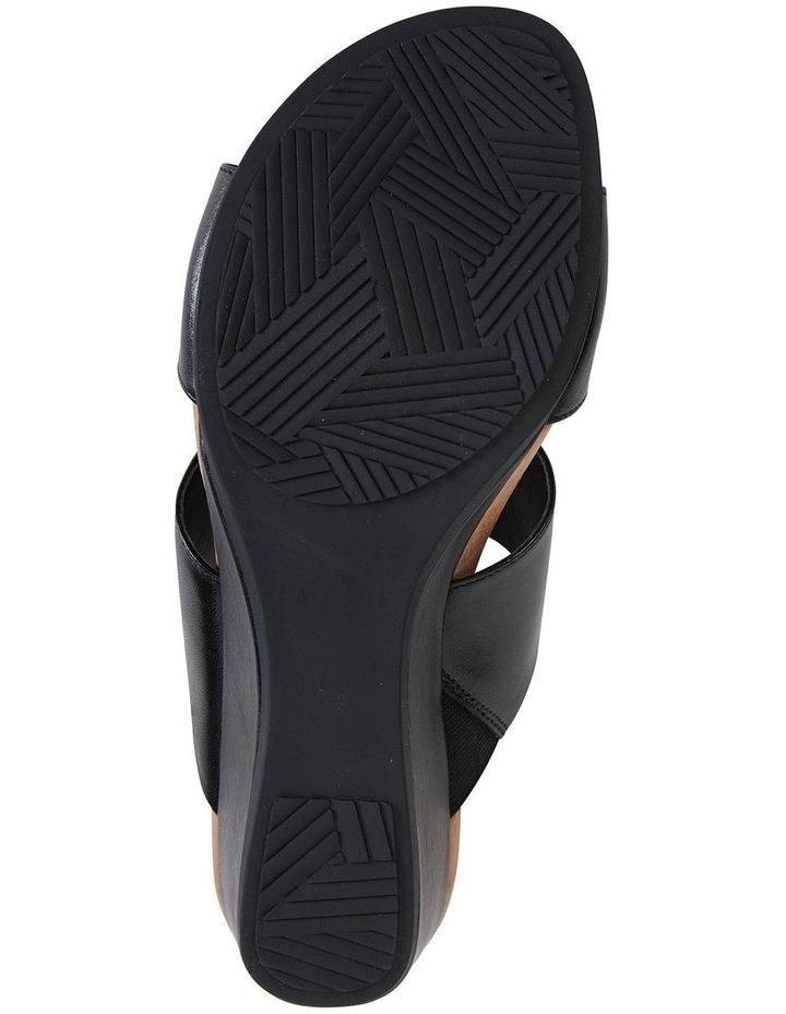 Melanie Black Glove Sandals image 5