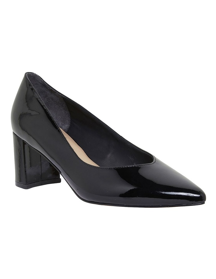 Gallery Black Patent Heeled Shoes image 2