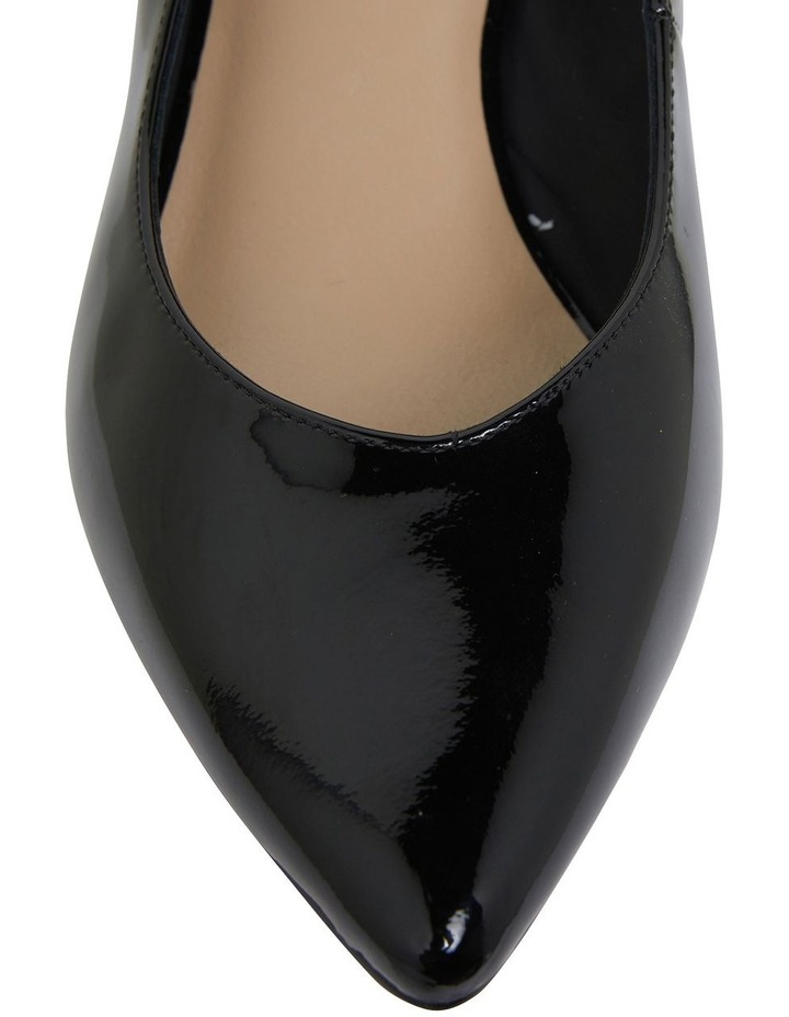 Gallery Black Patent Heeled Shoes image 7