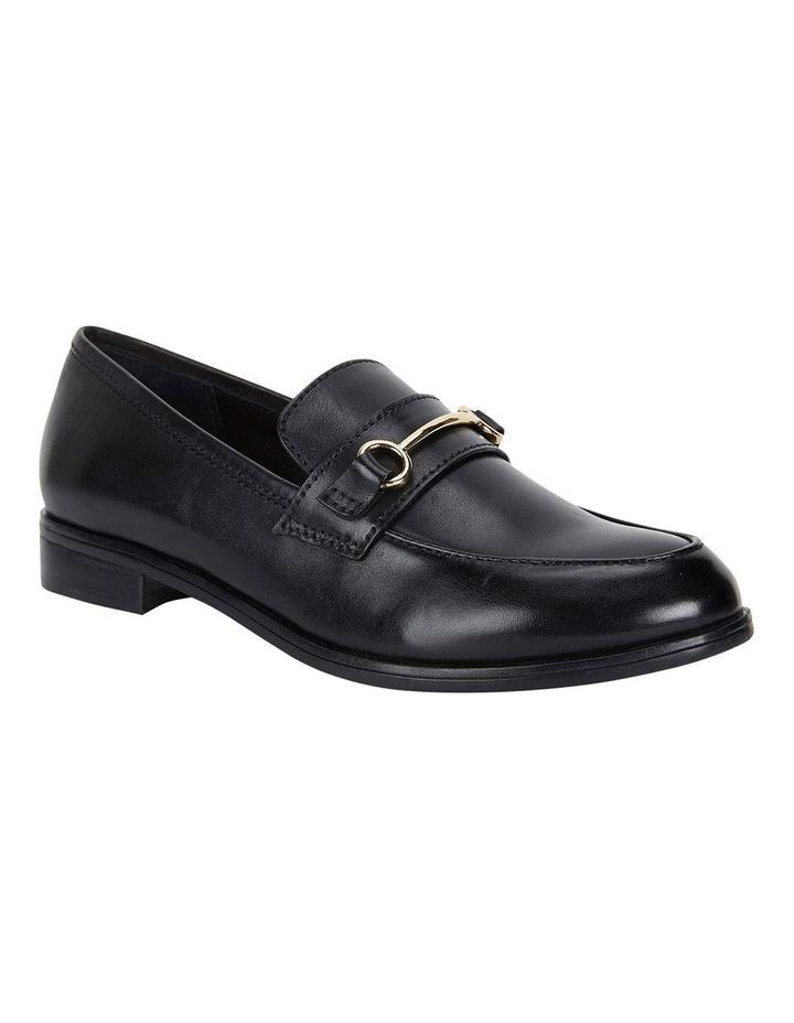 Wallis Black Hi Shine Flat Shoes image 2