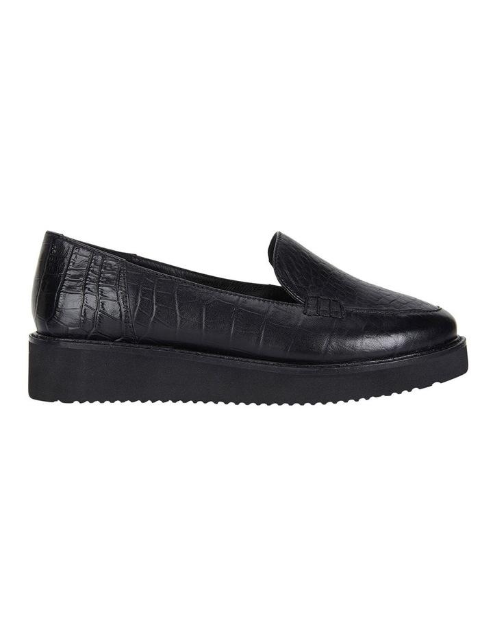 Vista Black Croc Flat Shoes image 1