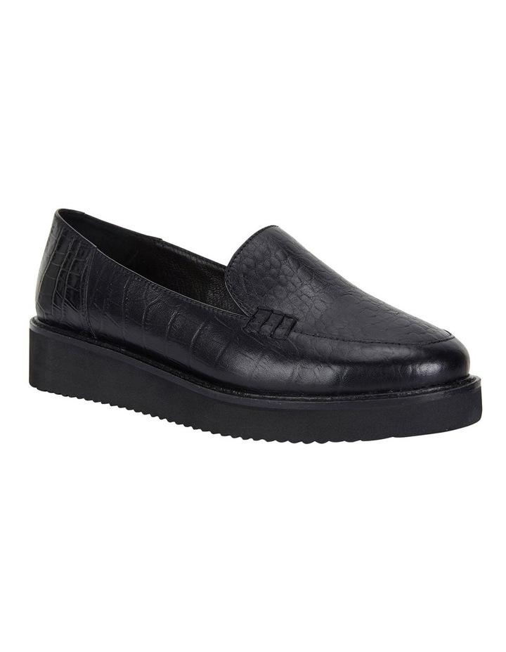Vista Black Croc Flat Shoes image 2