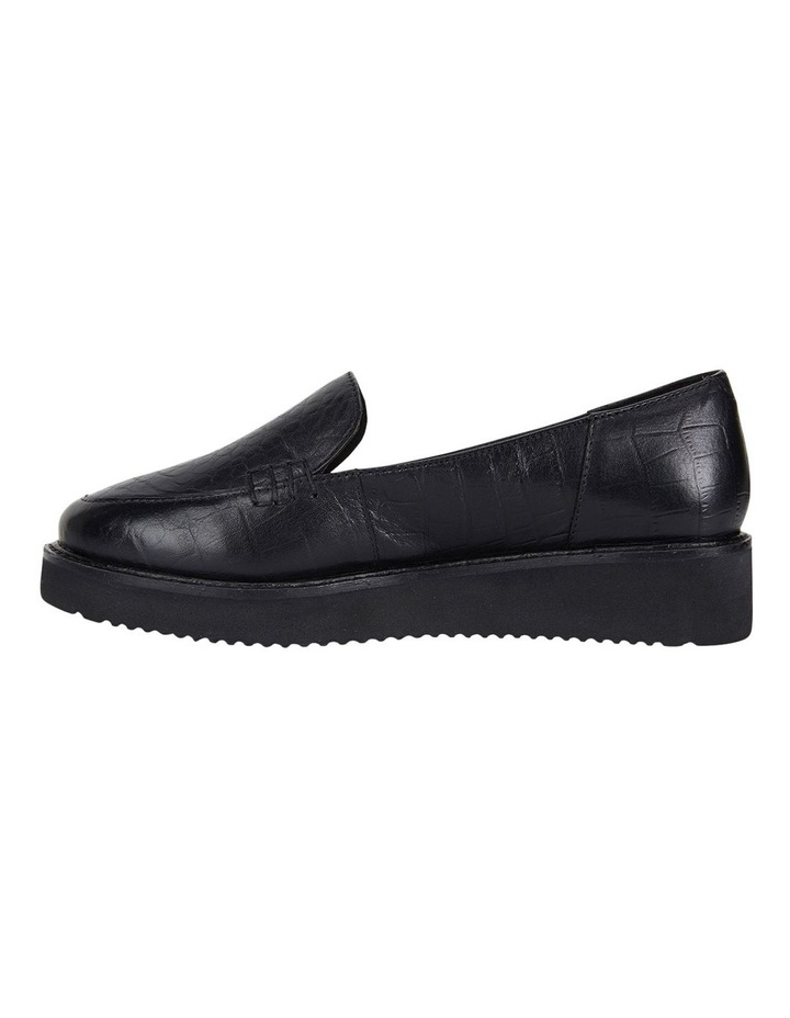 Vista Black Croc Flat Shoes image 3