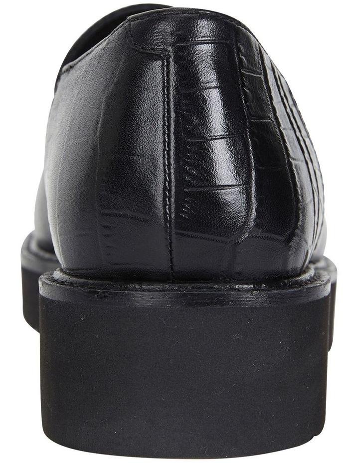 Vista Black Croc Flat Shoes image 5
