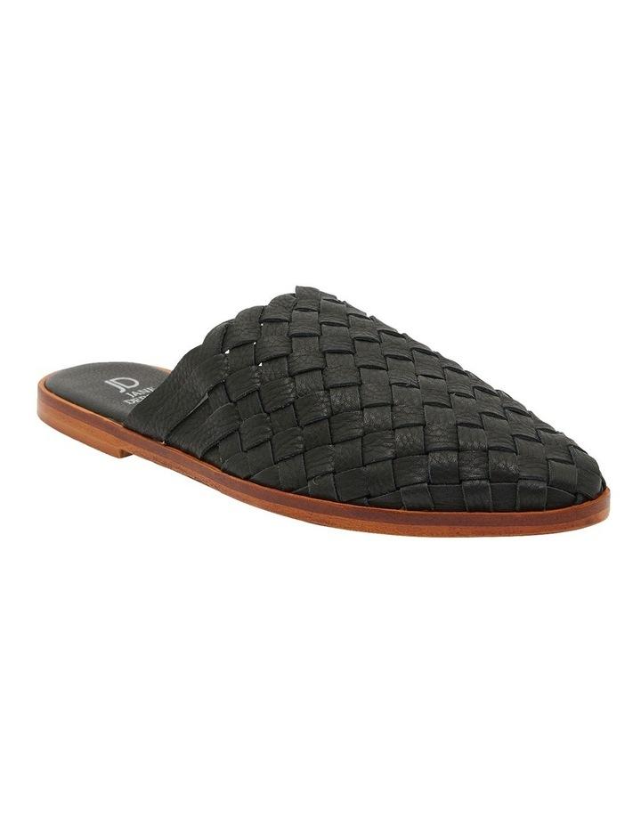 Watson Black Weave Flat Shoes image 2