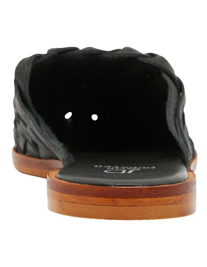Watson Black Weave Flat Shoes image 5