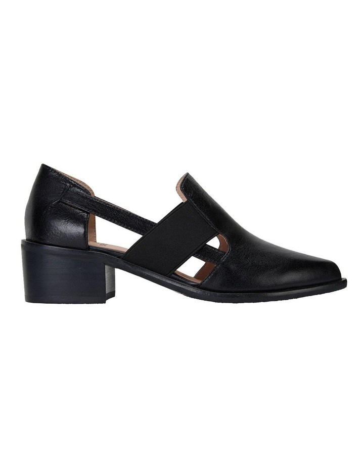 Expose Black Oil Heeled Shoes image 1