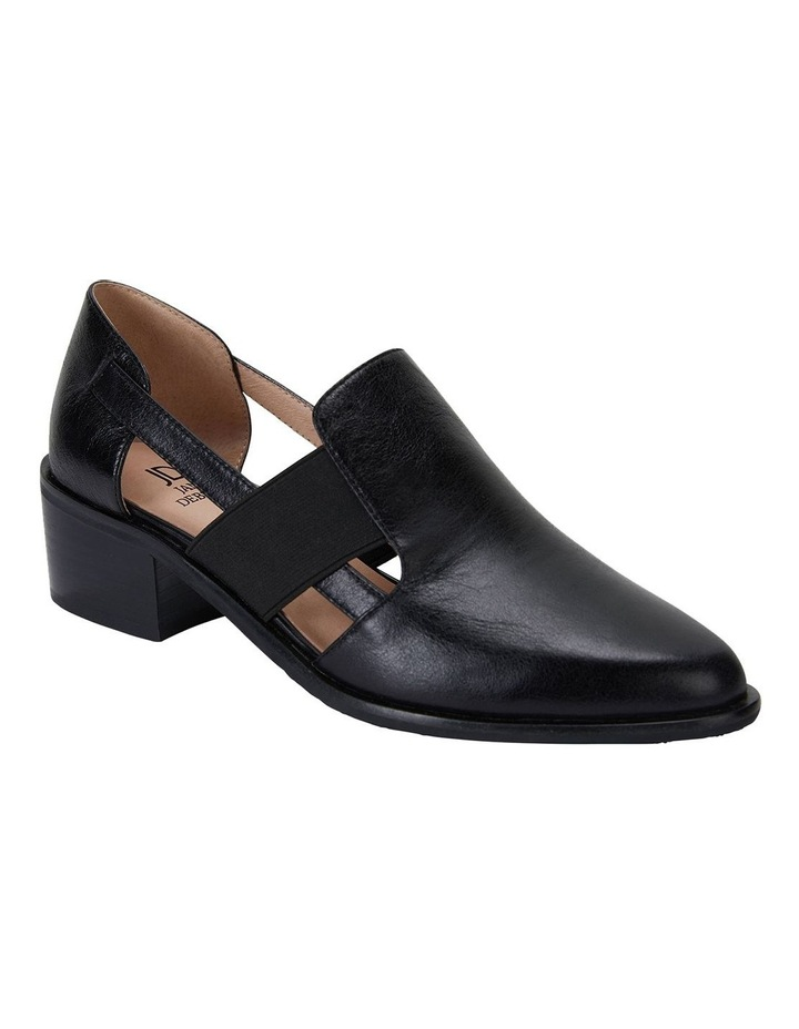 Expose Black Oil Heeled Shoes image 2