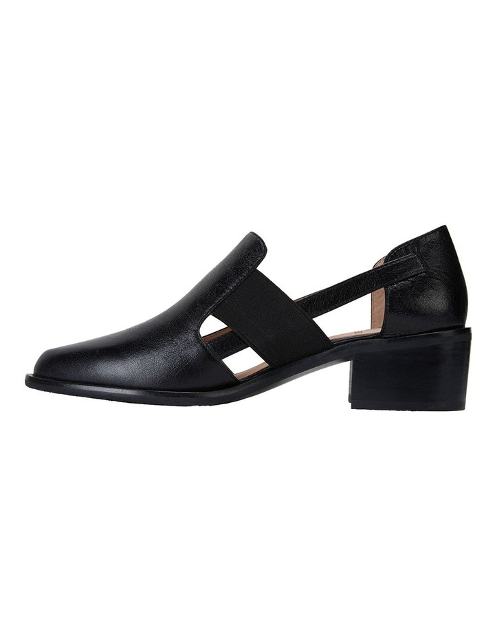 Expose Black Oil Heeled Shoes image 3