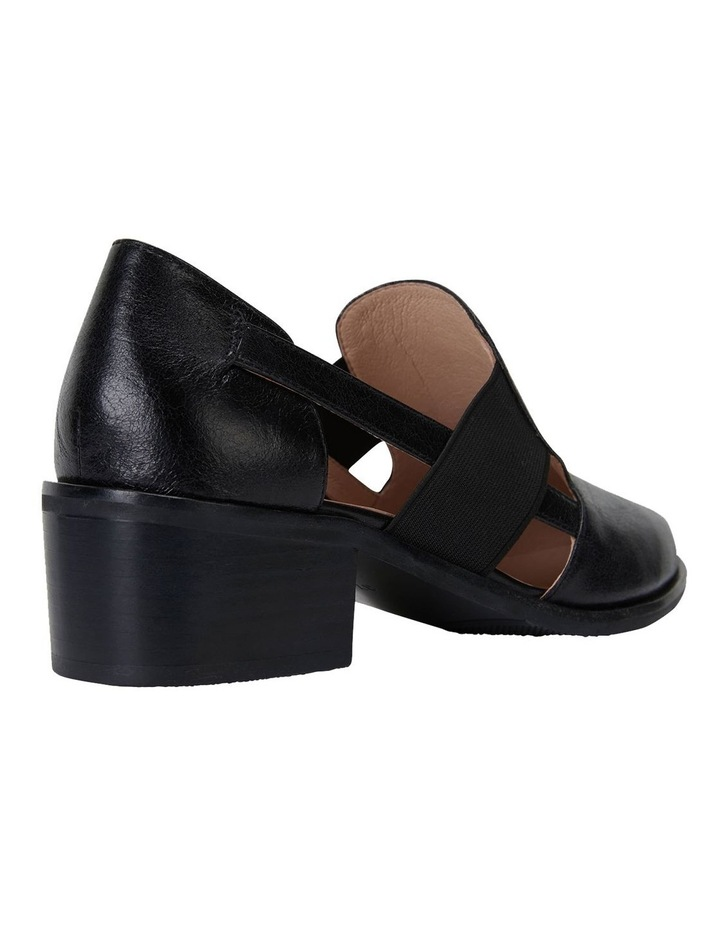 Expose Black Oil Heeled Shoes image 4
