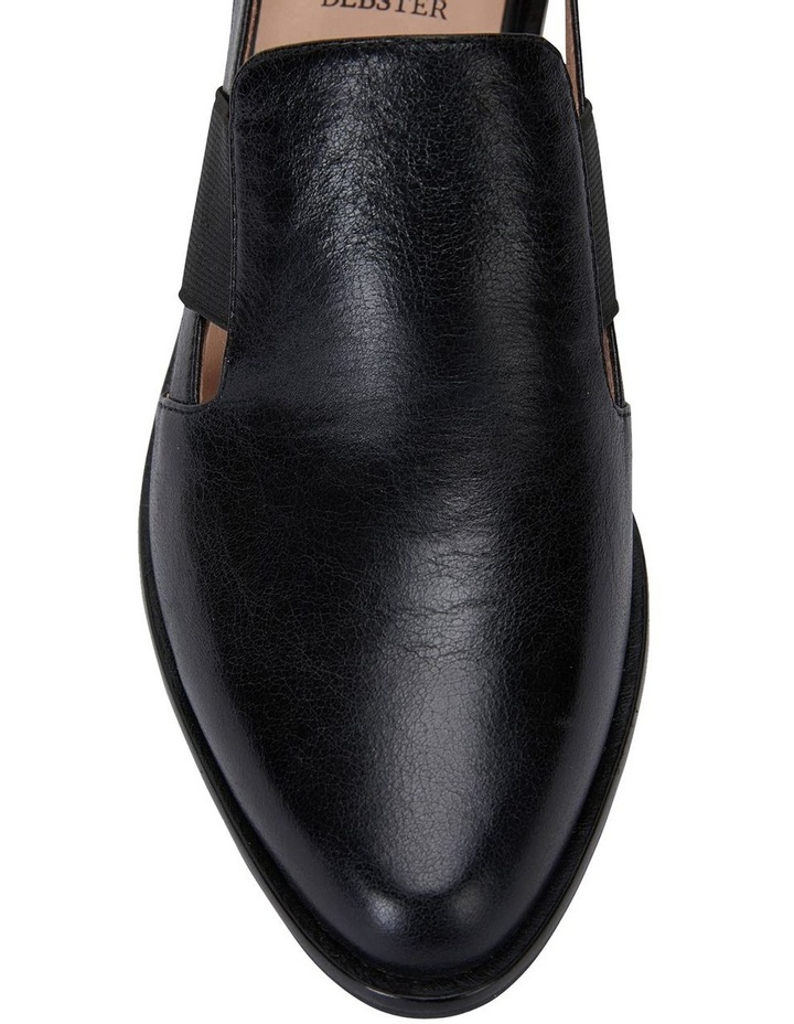 Expose Black Oil Heeled Shoes image 6