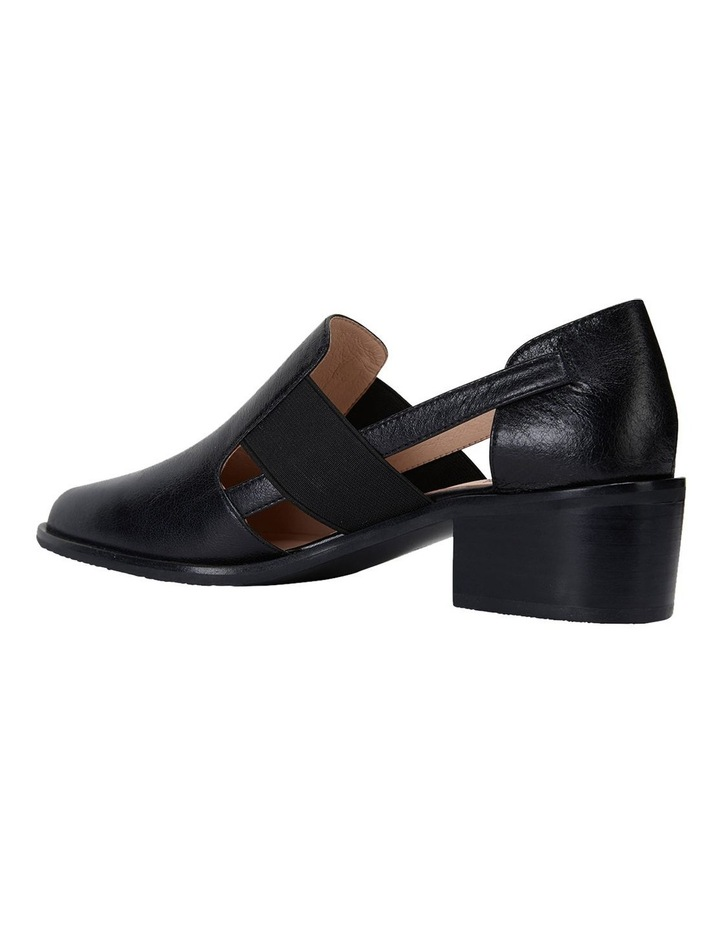 Expose Black Oil Heeled Shoes image 7