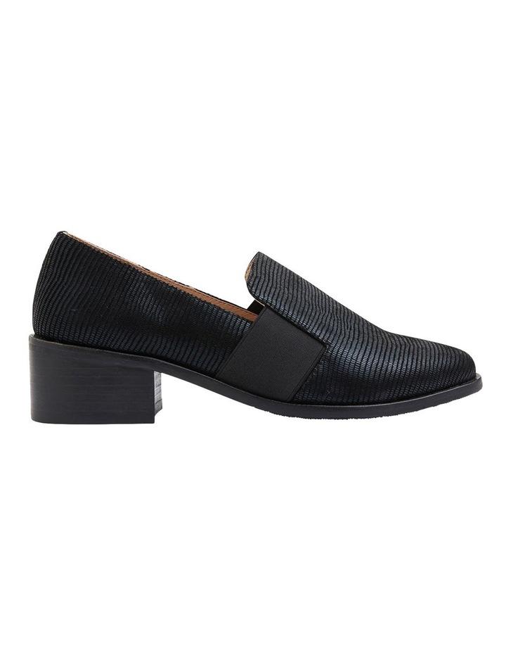 Exact Black Lizard Heeled Shoes image 1