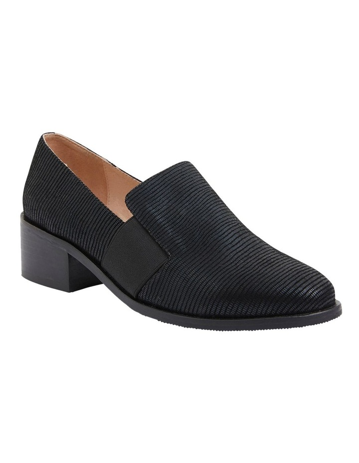 Exact Black Lizard Heeled Shoes image 2