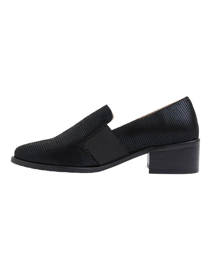 Exact Black Lizard Heeled Shoes image 3