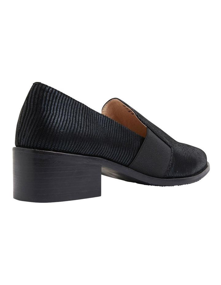 Exact Black Lizard Heeled Shoes image 4