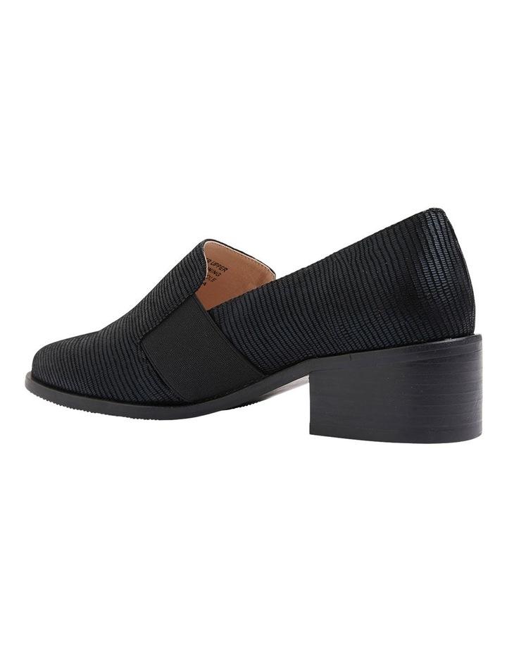 Exact Black Lizard Heeled Shoes image 7
