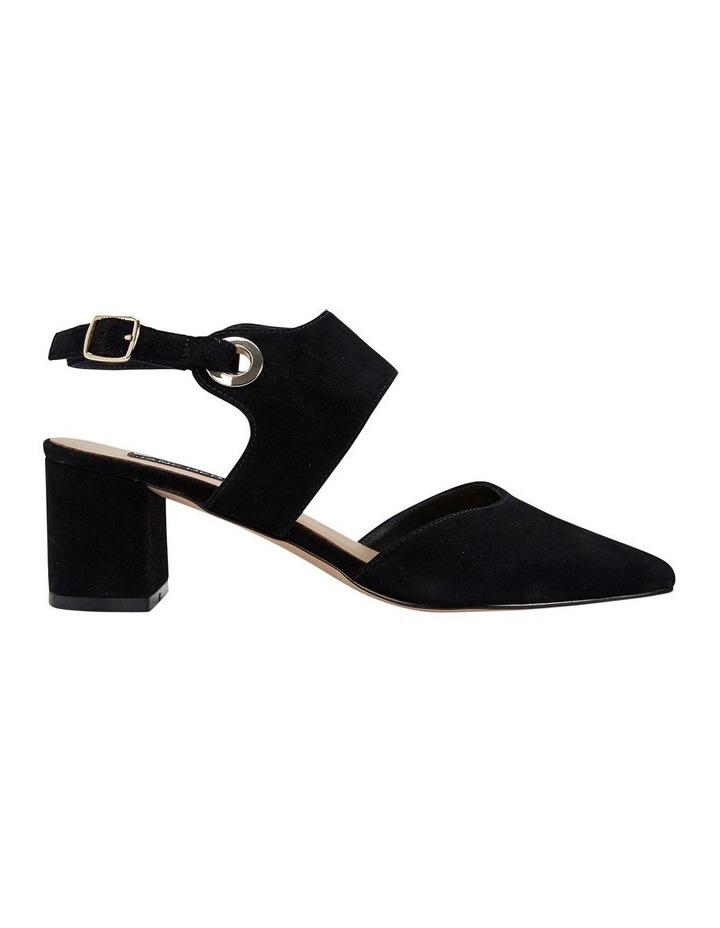 Felicity Black Suede Heeled Shoes image 1