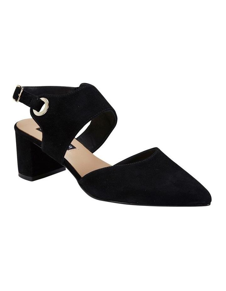 Felicity Black Suede Heeled Shoes image 2