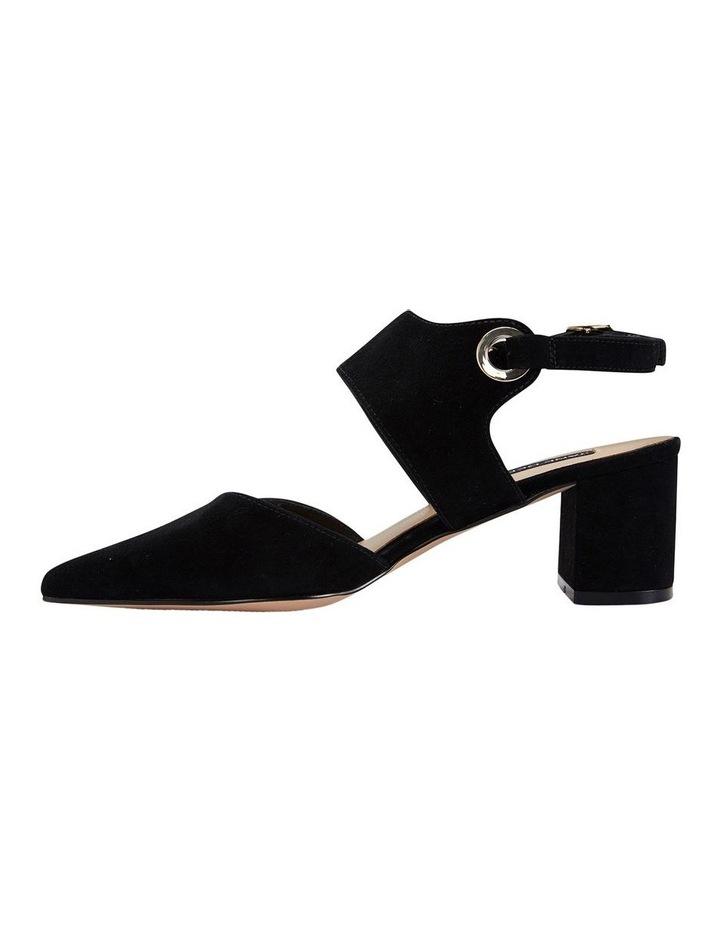 Felicity Black Suede Heeled Shoes image 3