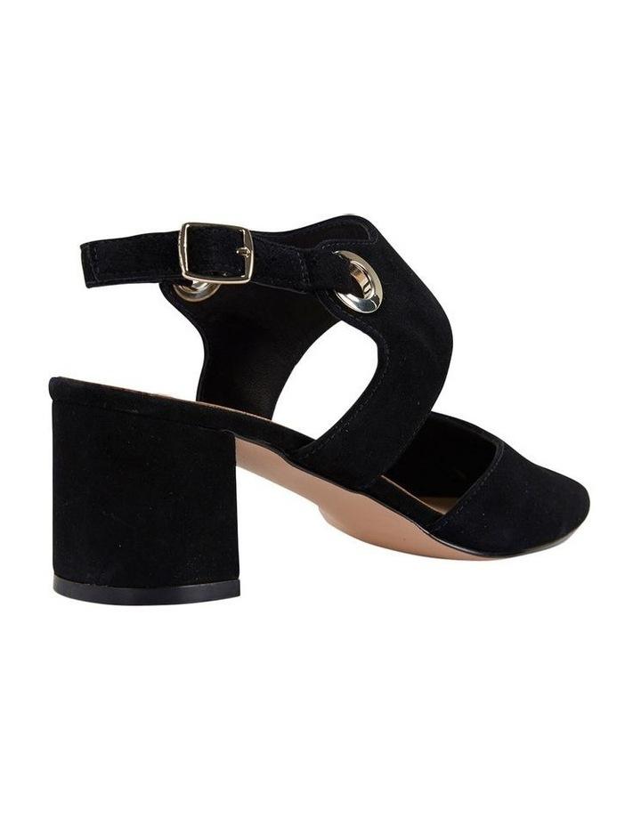 Felicity Black Suede Heeled Shoes image 4