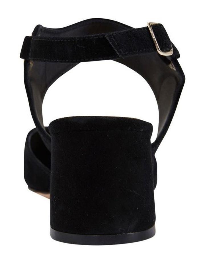 Felicity Black Suede Heeled Shoes image 5
