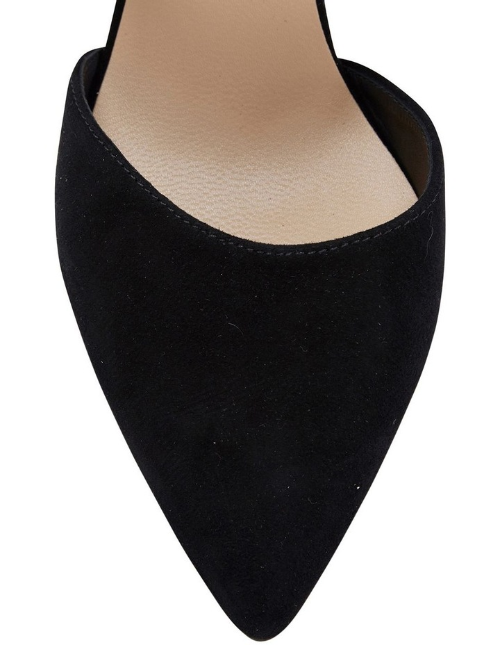 Felicity Black Suede Heeled Shoes image 6