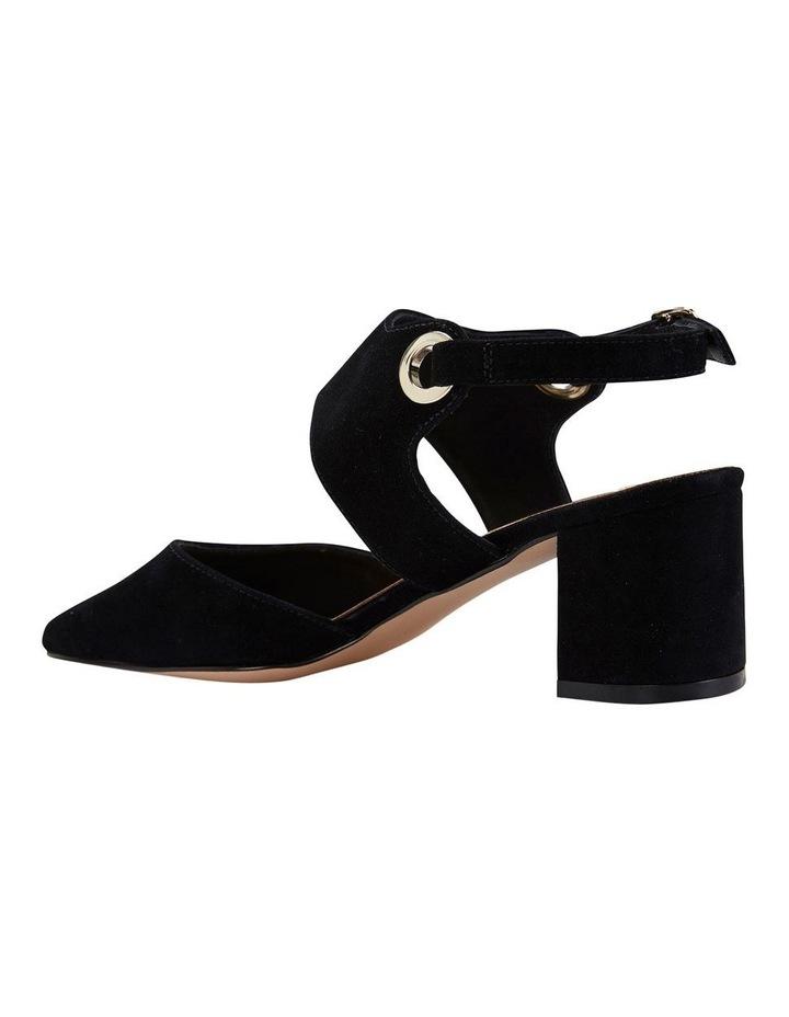 Felicity Black Suede Heeled Shoes image 7