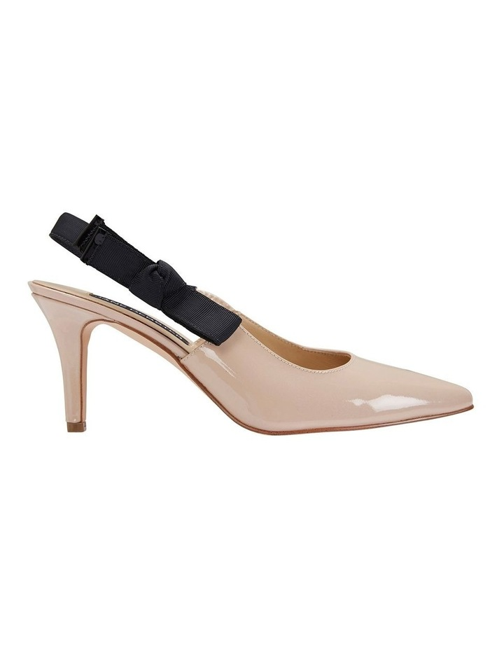 Casandra Nude Patent Heeled Shoes image 1