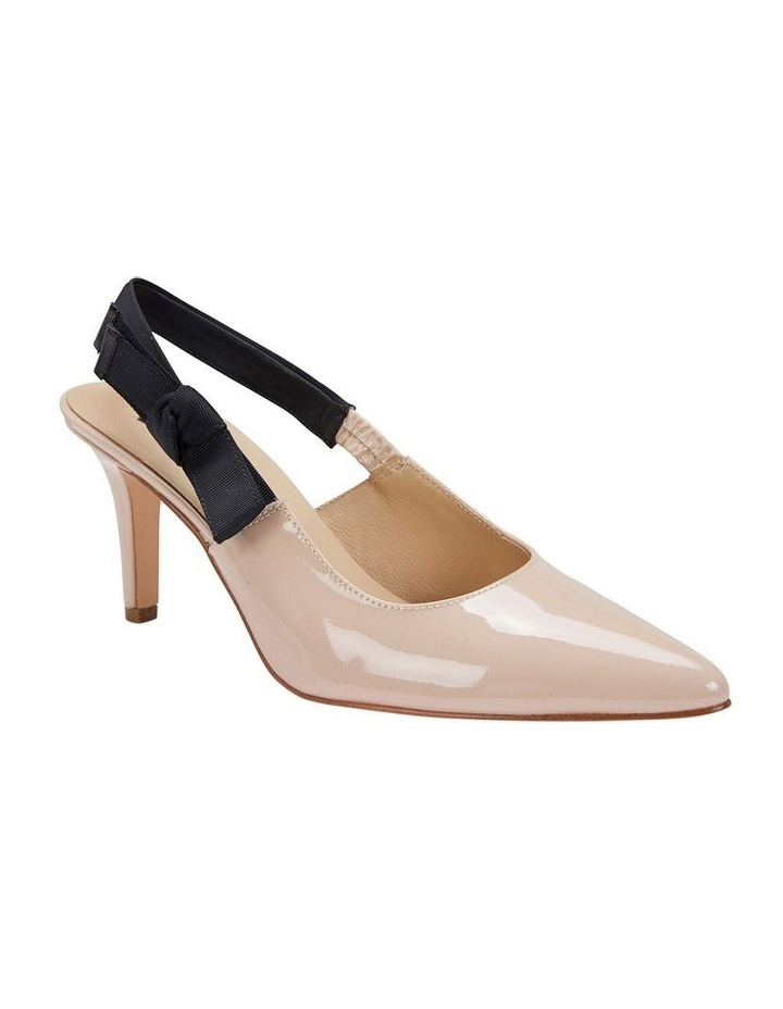 Casandra Nude Patent Heeled Shoes image 2
