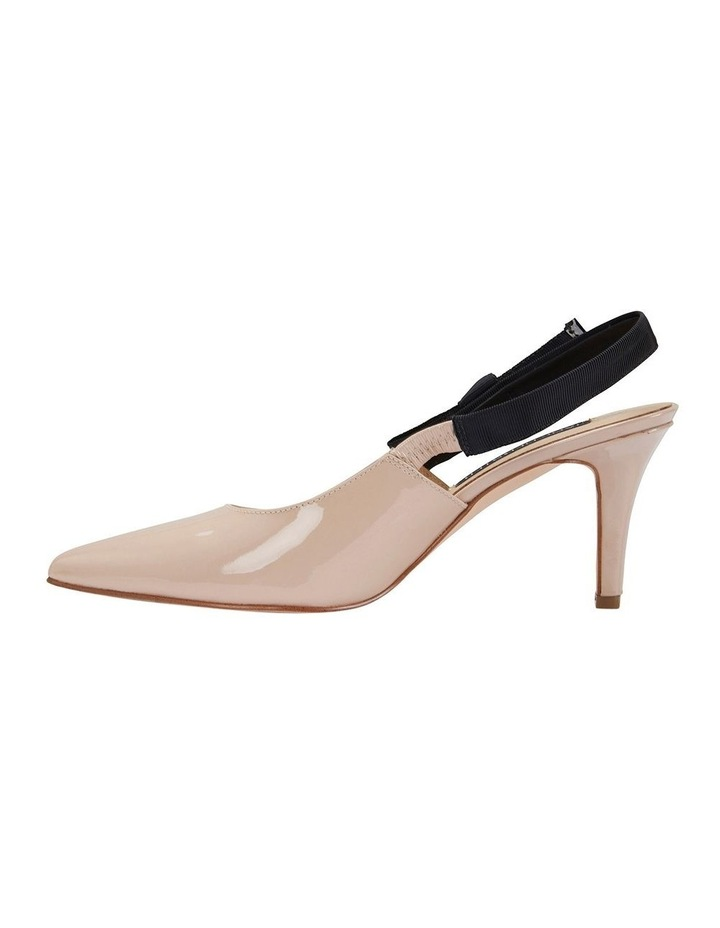 Casandra Nude Patent Heeled Shoes image 3