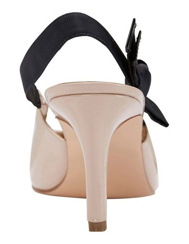 Casandra Nude Patent Heeled Shoes image 4