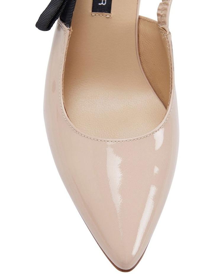 Casandra Nude Patent Heeled Shoes image 5