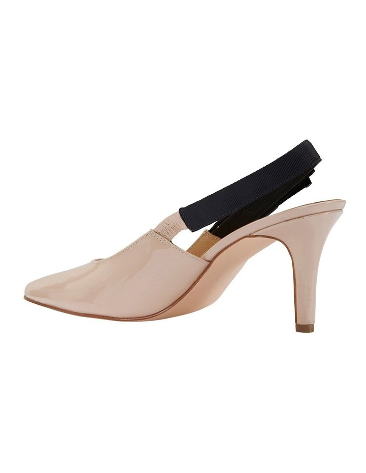 Casandra Nude Patent Heeled Shoes image 6