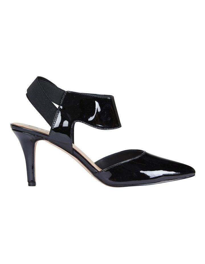 Capture Black Patent/Elastic Heeled Shoes image 1