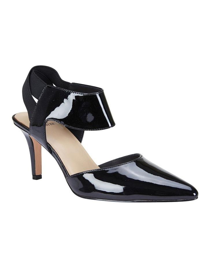 Capture Black Patent/Elastic Heeled Shoes image 2