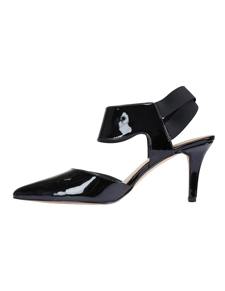 Capture Black Patent/Elastic Heeled Shoes image 3