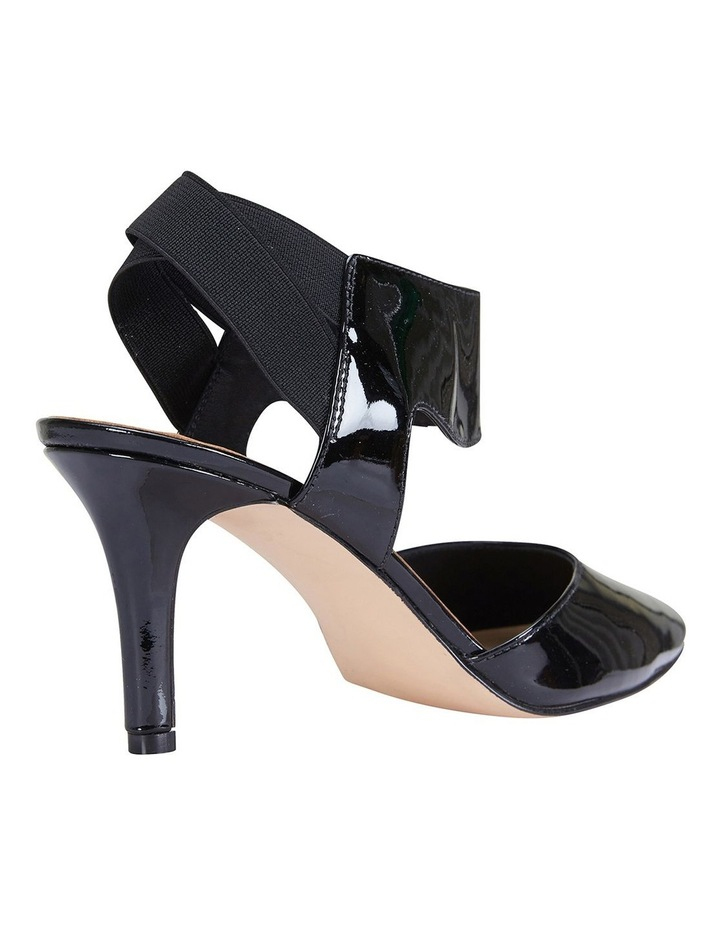 Capture Black Patent/Elastic Heeled Shoes image 4