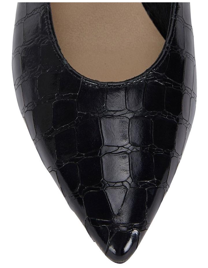Seduce Black Croc Print Heeled Shoes image 6