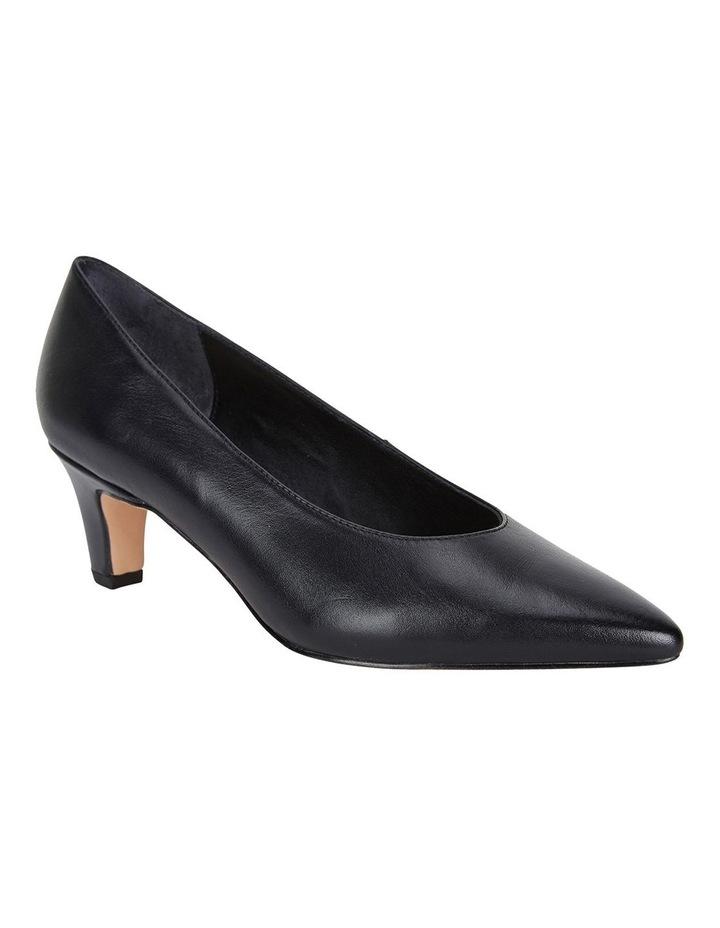 Seduce Black Glove Heeled Shoes image 2